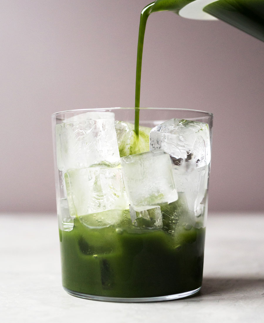 Green tea soda