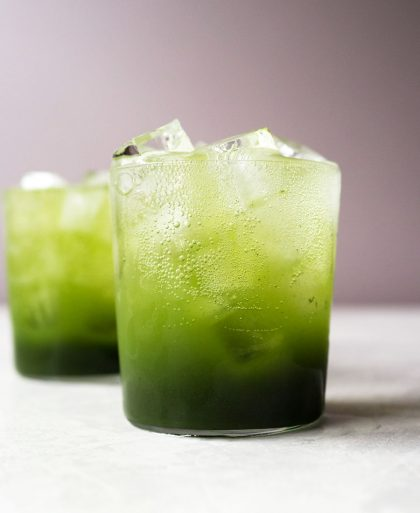 Sparkling green tea soda
