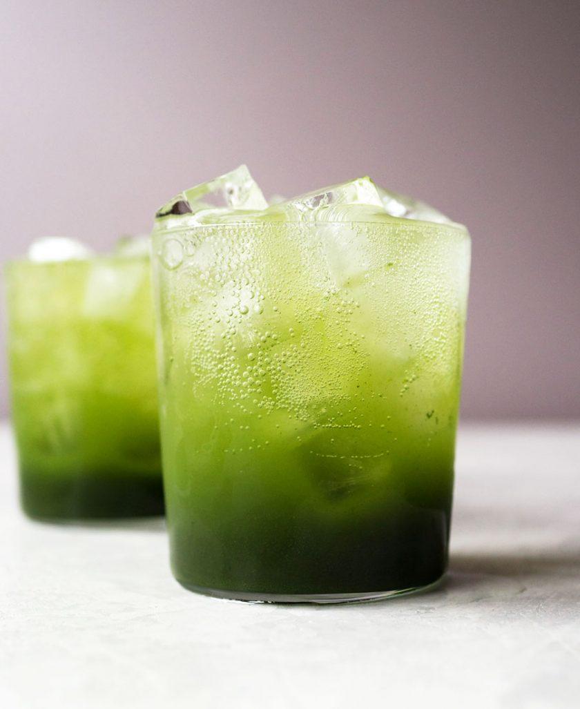Sparkling green tea soda