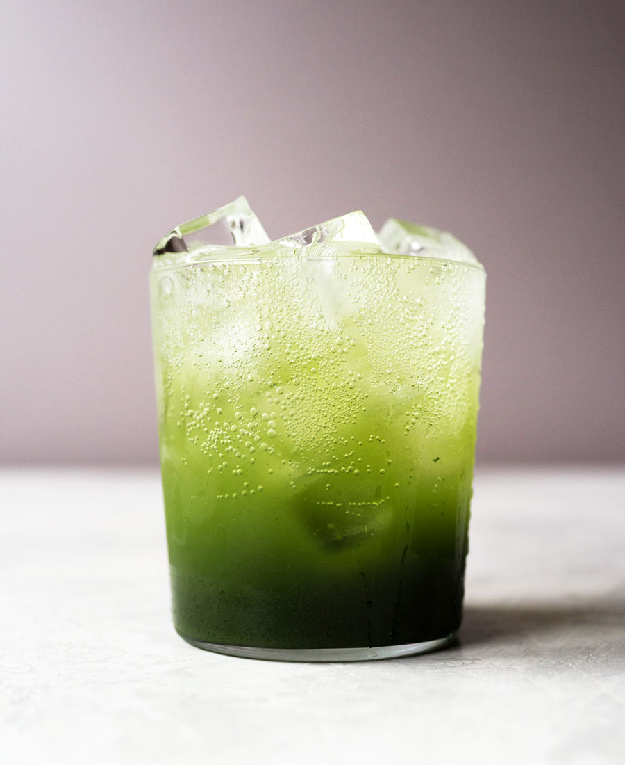 Matcha green tea soda