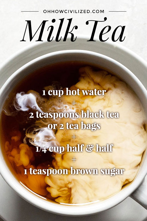 Decadent Milk Tea with Brown Sugar | Oh, How Civilized