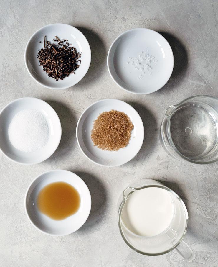 Hojicha tea latte ingredients