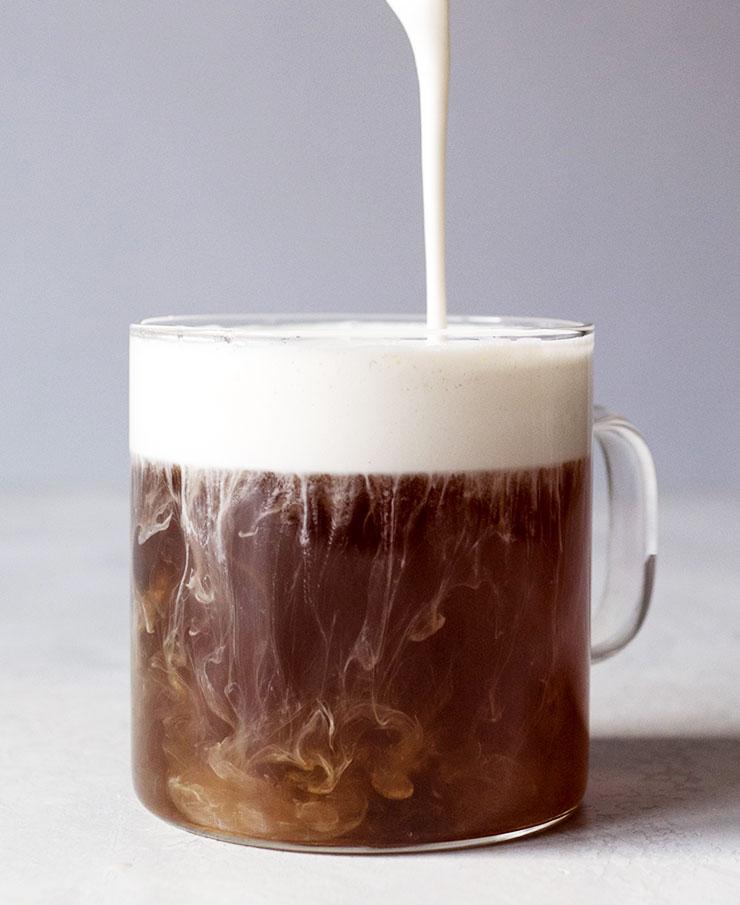 How to make Hojicha tea latte