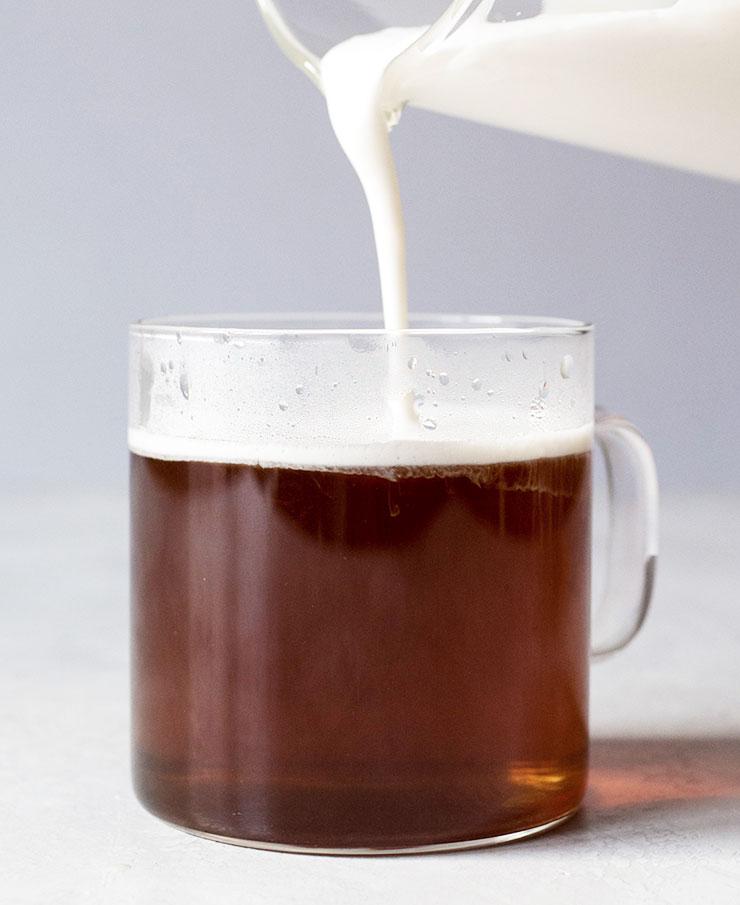 Hojicha tea latte recipe