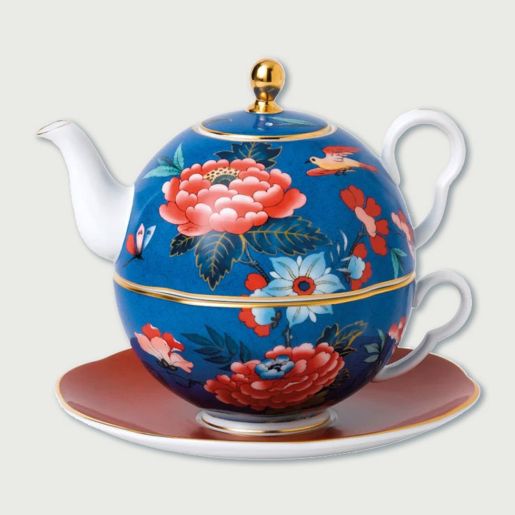 Peony Wedgwood tea for one