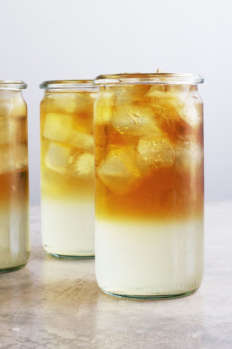 Layered Arnold Palmer drink