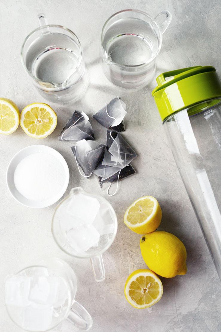 Lemon iced tea ingredients