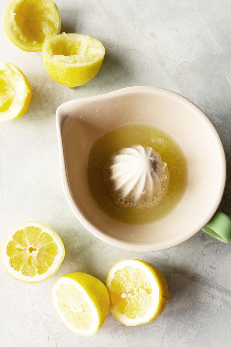 Juicing lemons for lemon iced tea