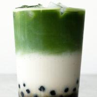 2/ Matcha Bubble Tea (Boba Tea)