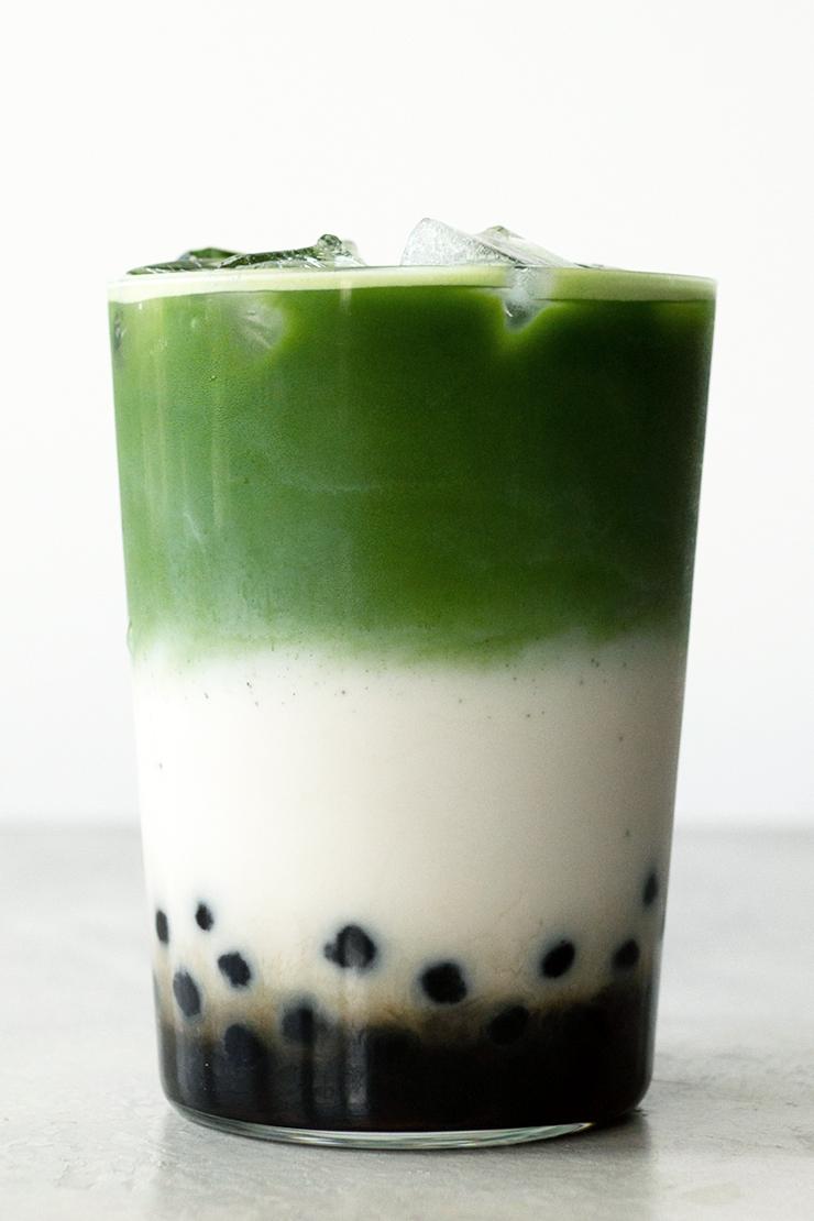 How to make matcha bubble tea