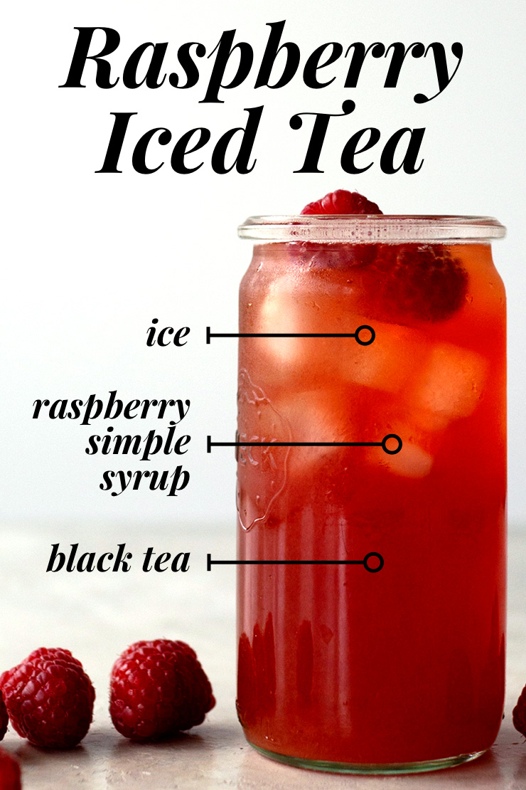 Raspberry Iced Tea from Scratch | Oh
