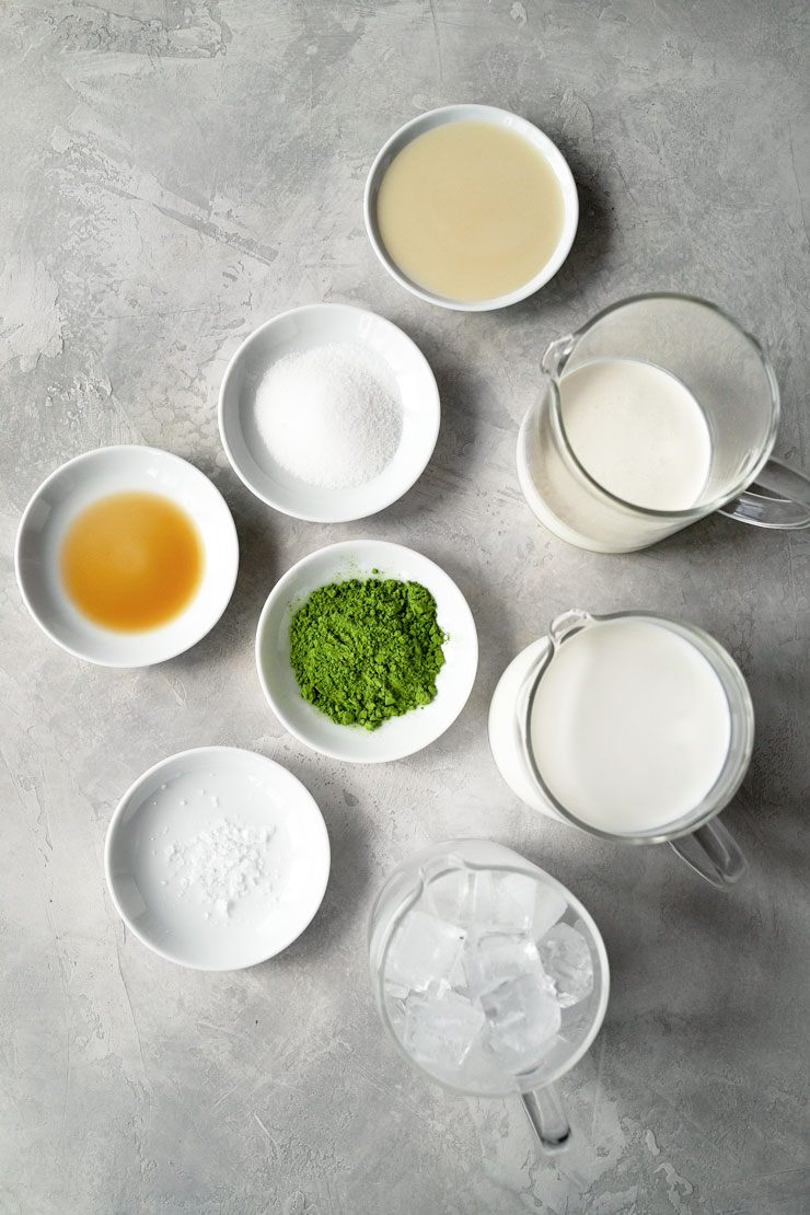 Matcha frappuccino ingredients