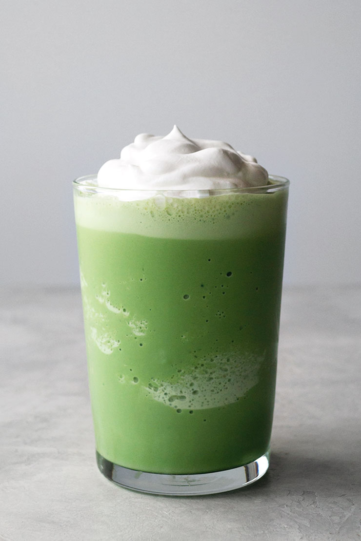 Frozen matcha drink