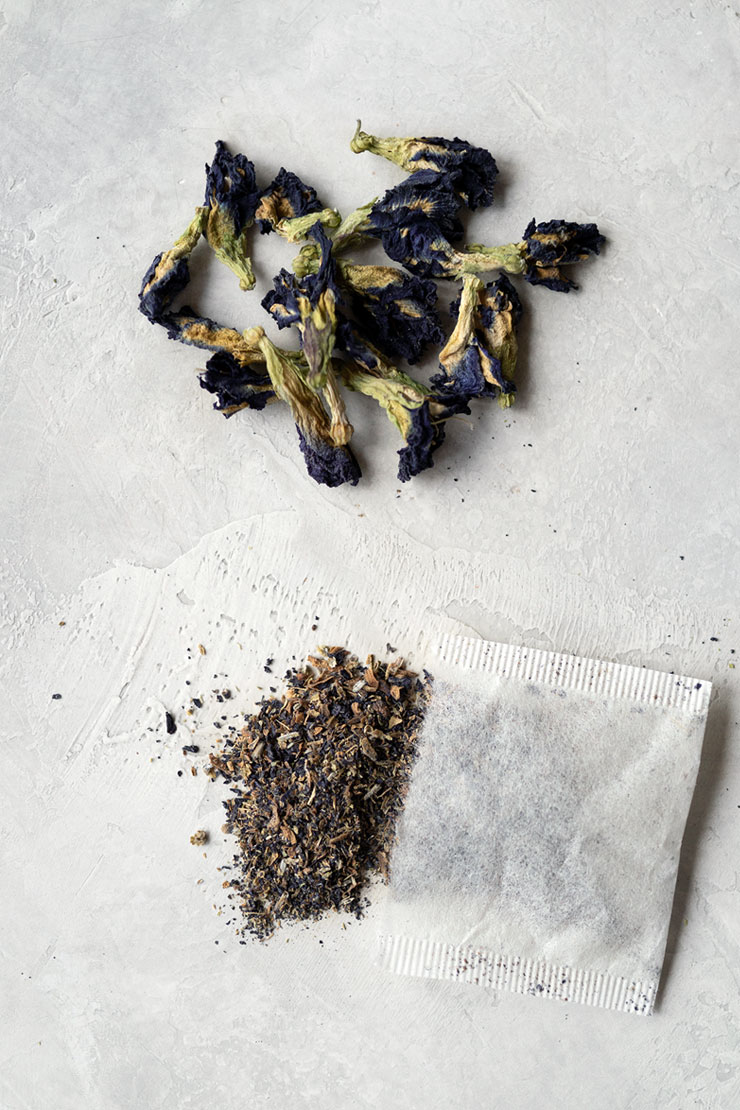 Butterfly pea flower loose tea and tea bags