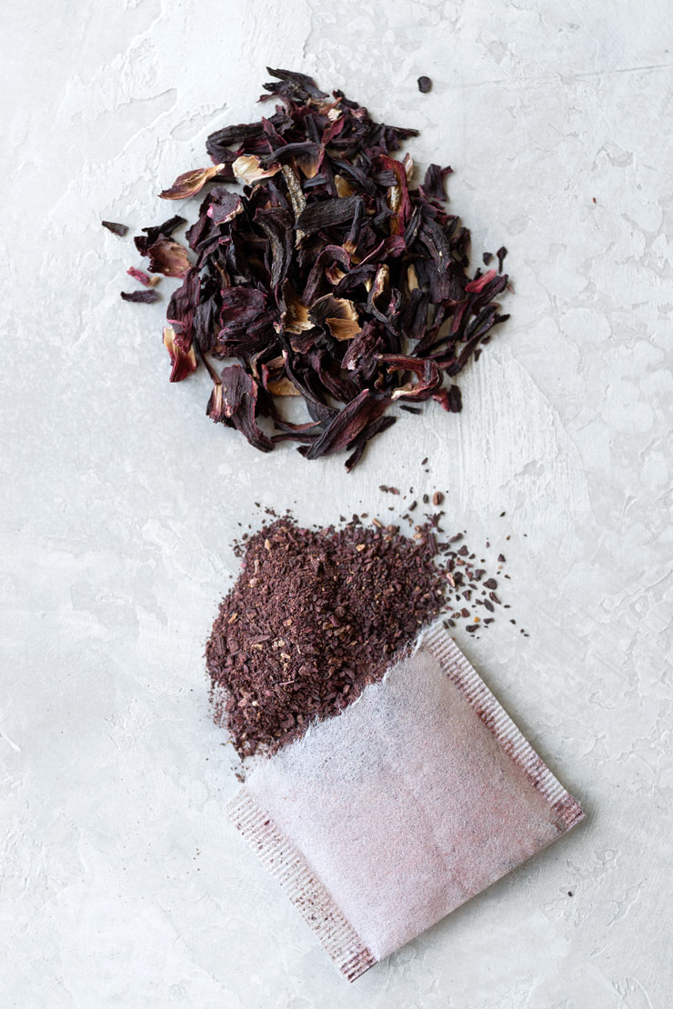 Hibiscus loose tea and in tea bags