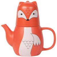Fox Teapot and Teacup Set