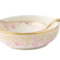 Royal Peony Tea Strainer and Bowl