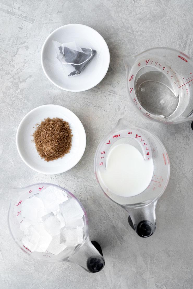Iced brown sugar tea latte ingredients