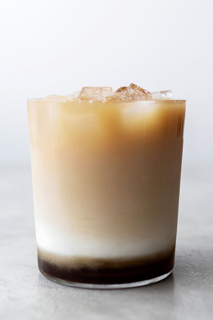 Iced brown sugar tea latte