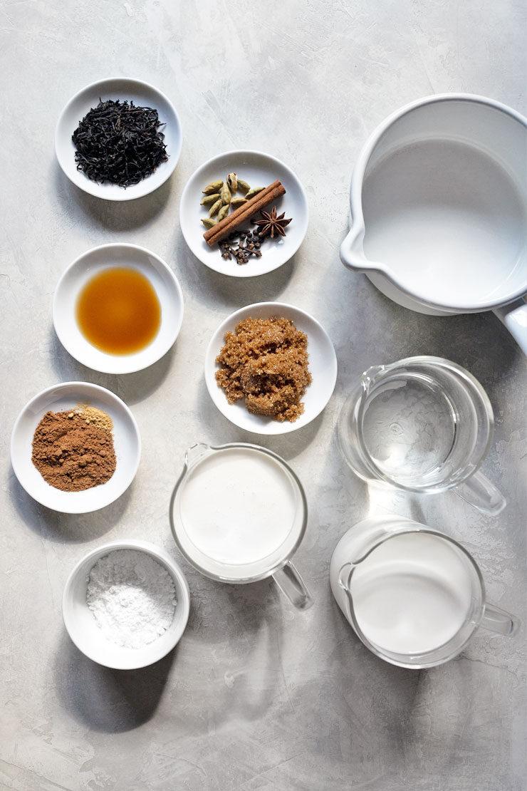 Chai latte ingredients