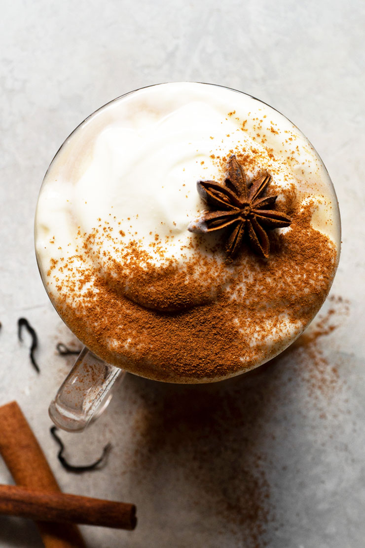 chai latte with star anise