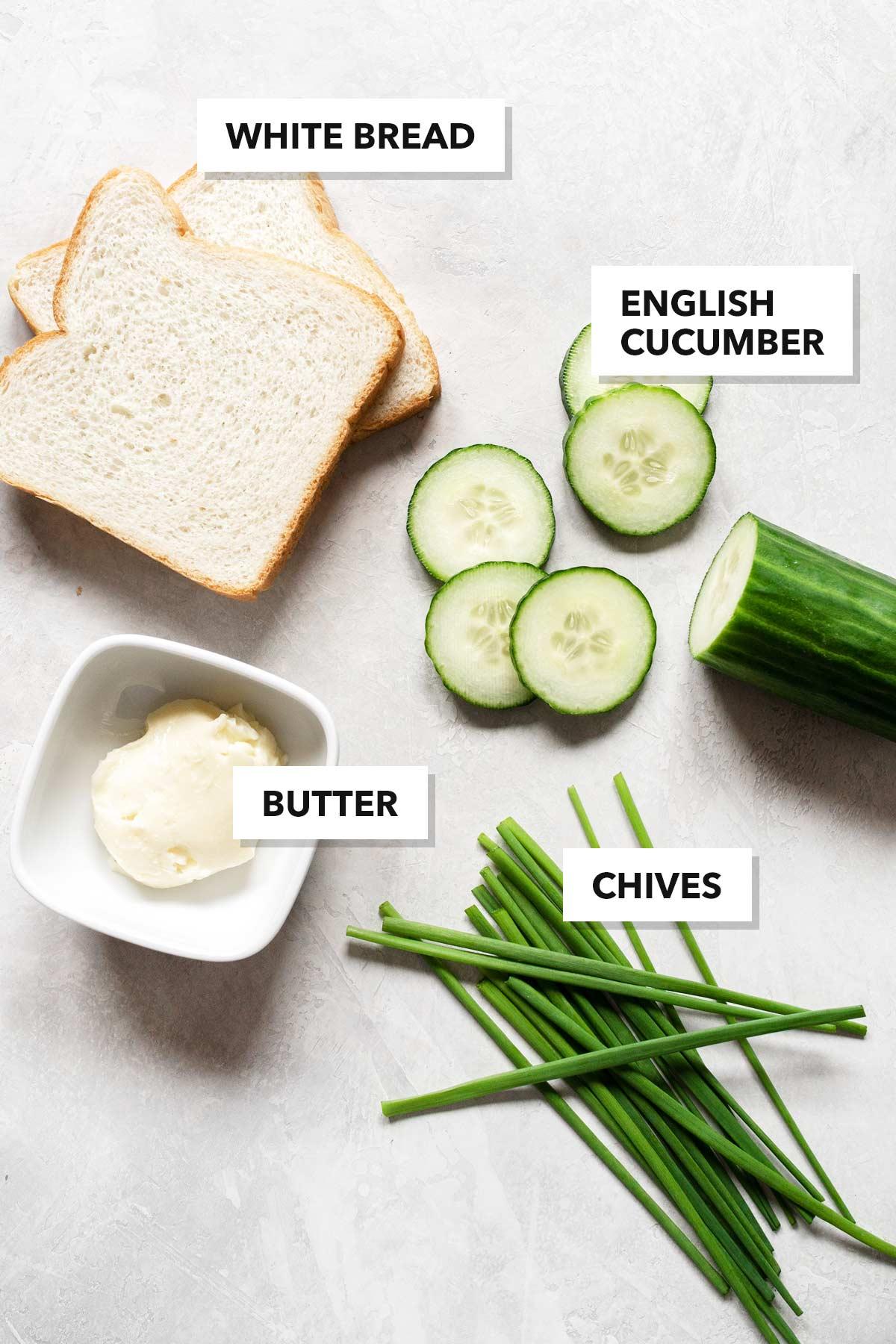 Cucumber tea sandwiches ingredients