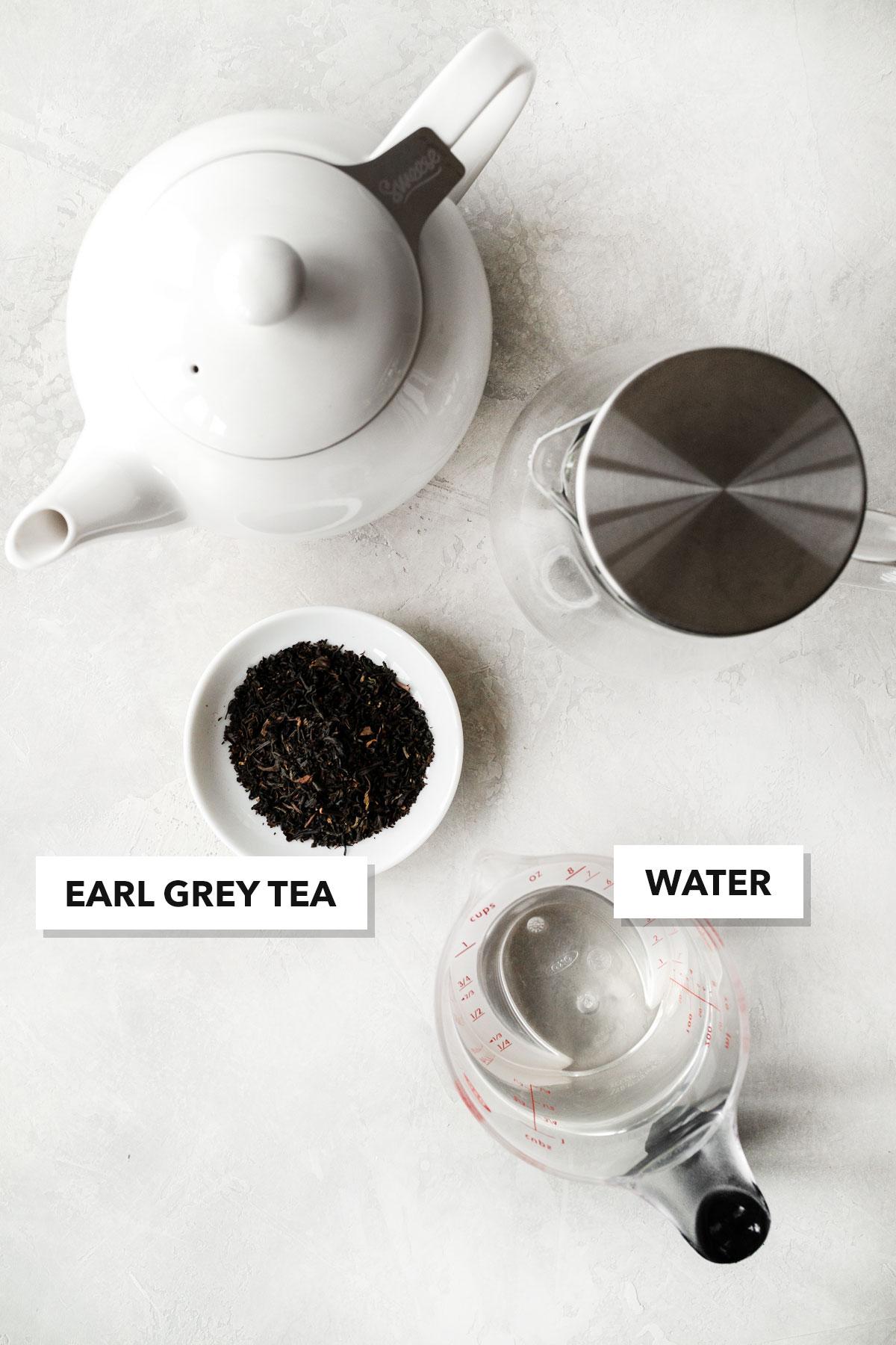 Earl Grey tea ingredients.