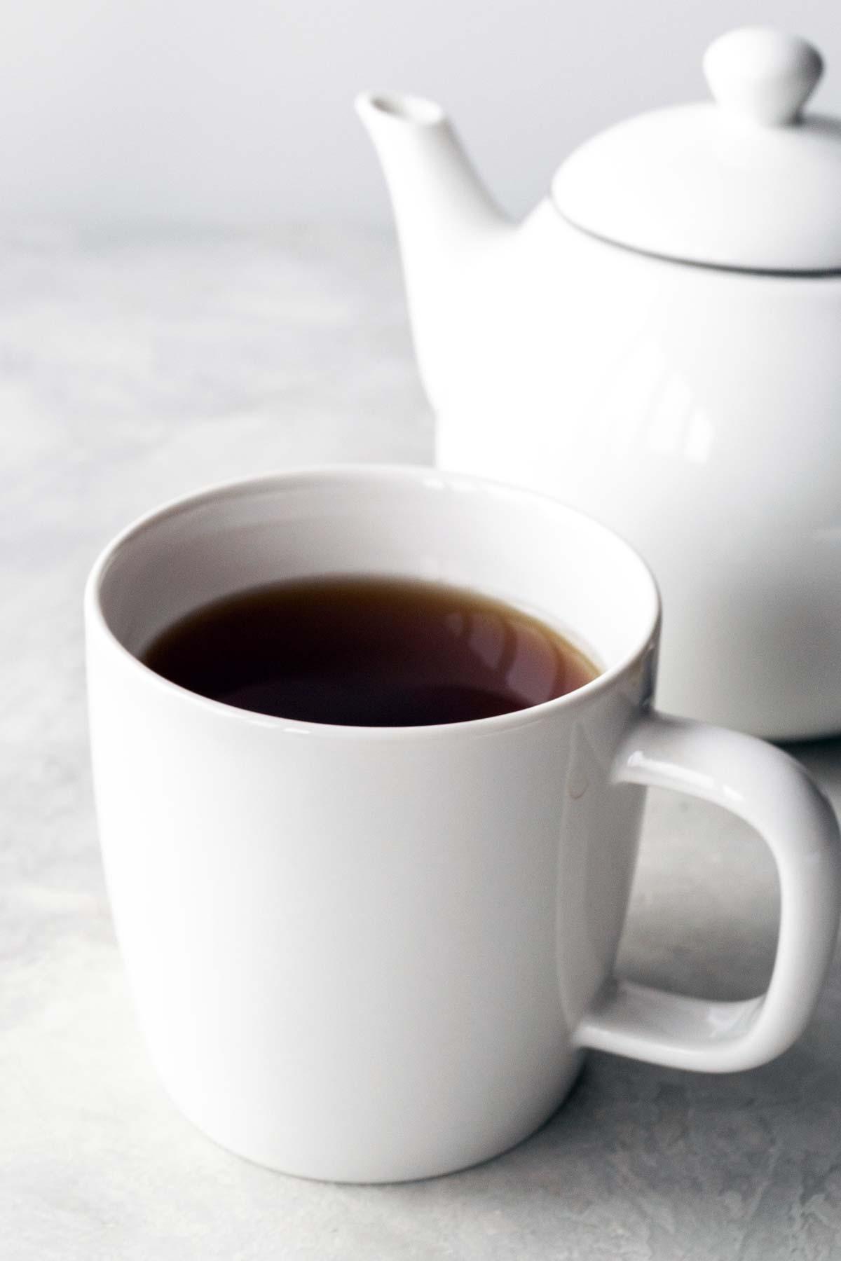 English Breakfast tea in a mug.