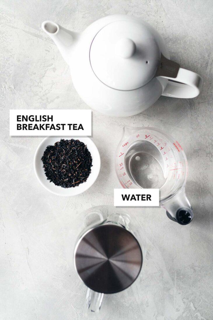 English breakfast tea ingredients.