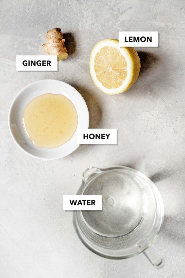 Ginger tea ingredients.