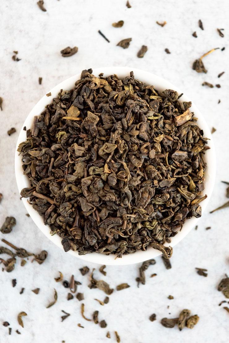 Loose gunpowder green tea