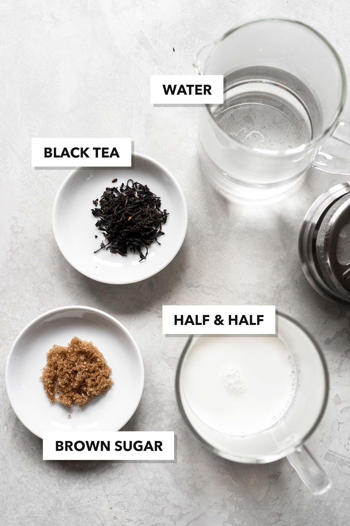 Milk tea ingredients