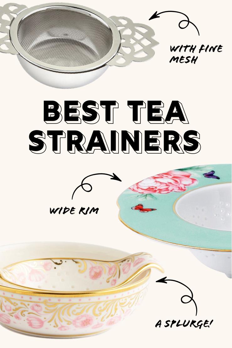 Three tea strainers