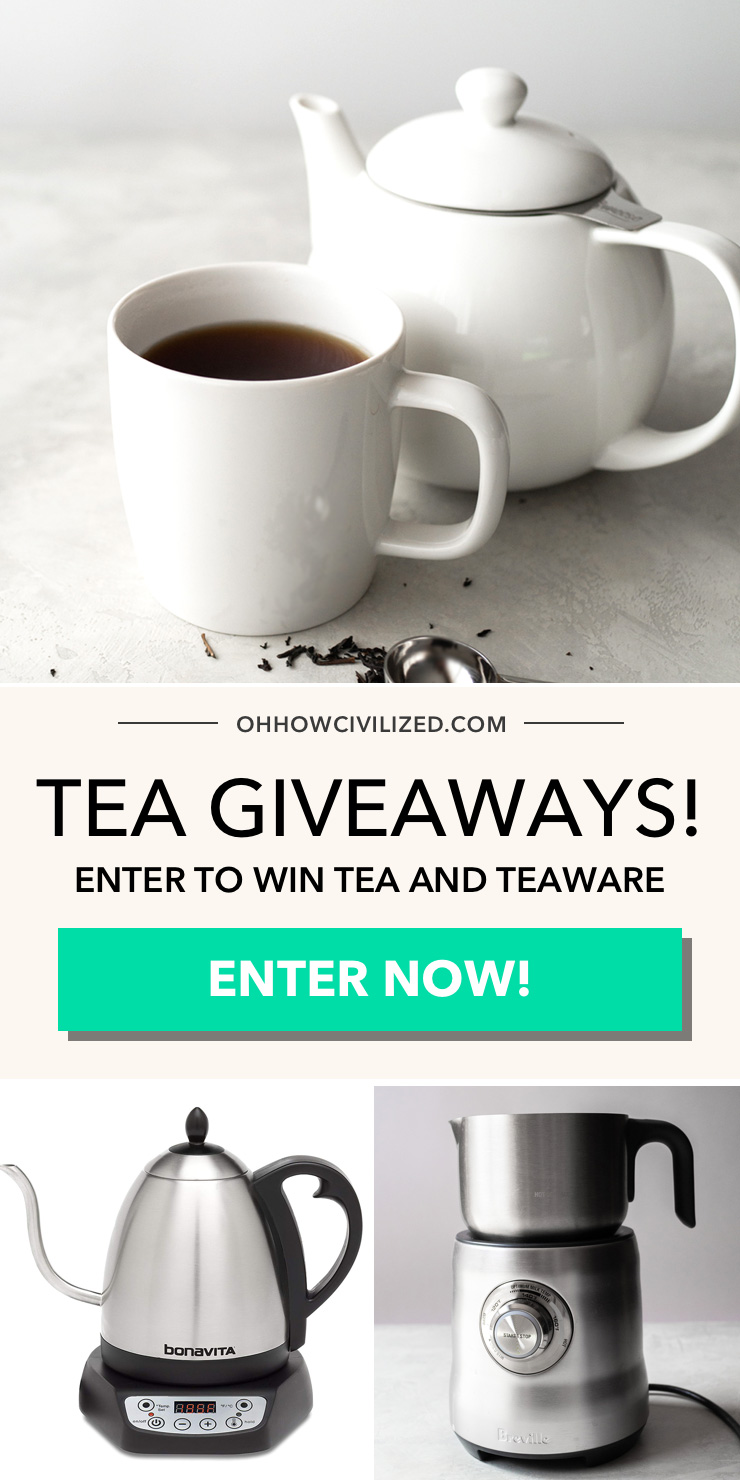 Tea Giveaways! Enter to win tea and teaware.