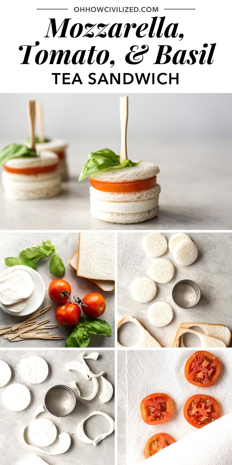Mozzarella, Tomato, and Basil Tea Sandwiches -- Perfect for Tea Time!