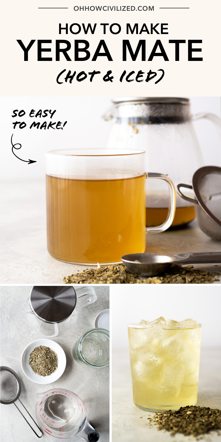 How to Make Yerba Mate Hot and Iced