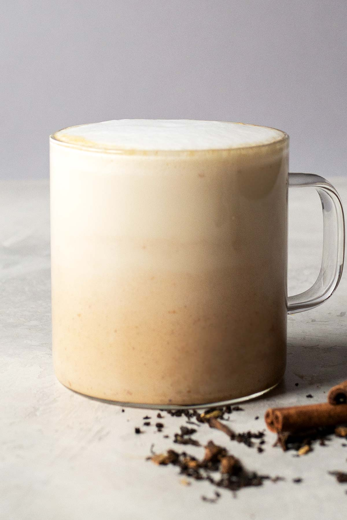 Pumpkin spice latte drink in a cup.