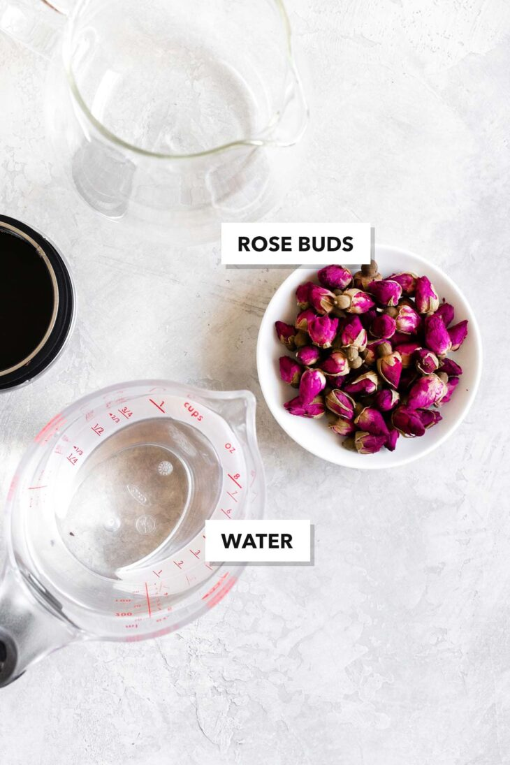 Rose tea ingredients.