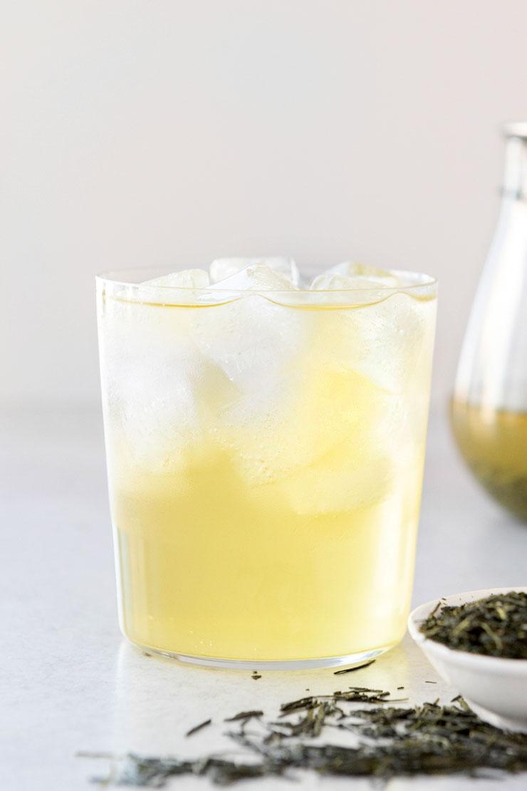 Cold Brewed Sencha Tea.