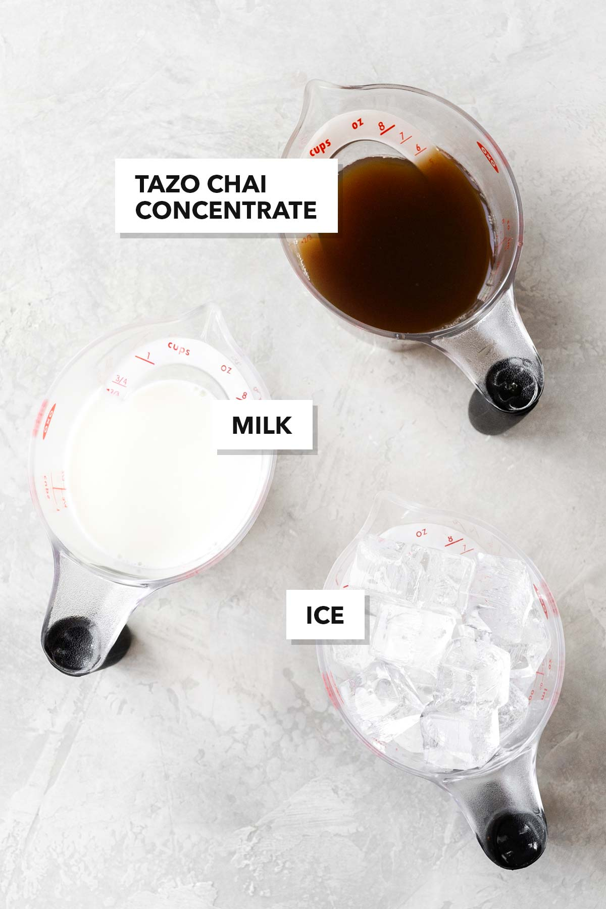 Starbucks Iced Chai Tea Latte ingredients.