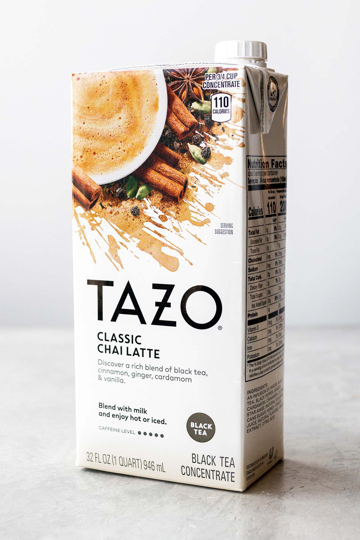 Tazo chai concentrate container.