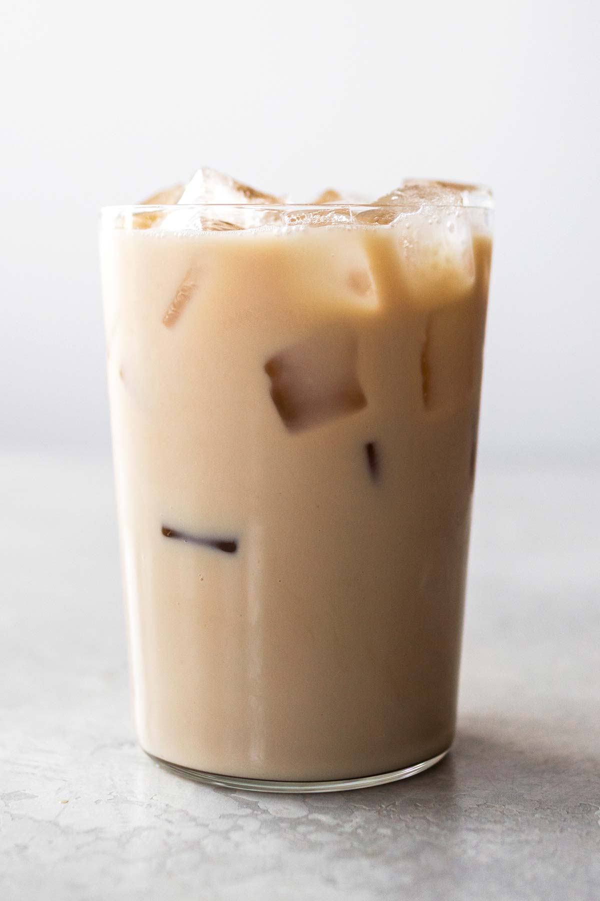 Starbucks Iced Chai Tea Latte copycat drink in a cup.