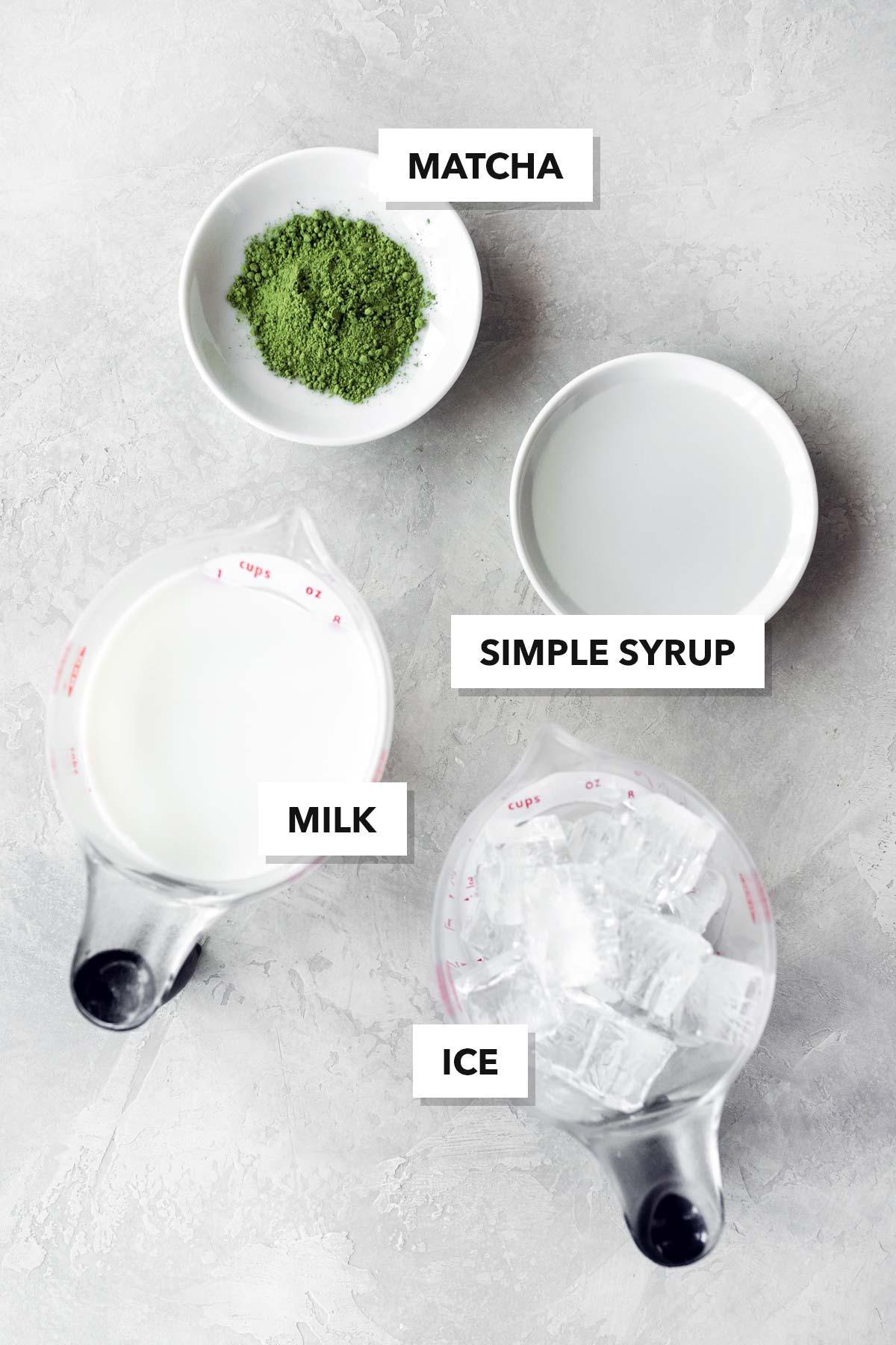 Starbucks Iced Matcha Latte copycat ingredients.