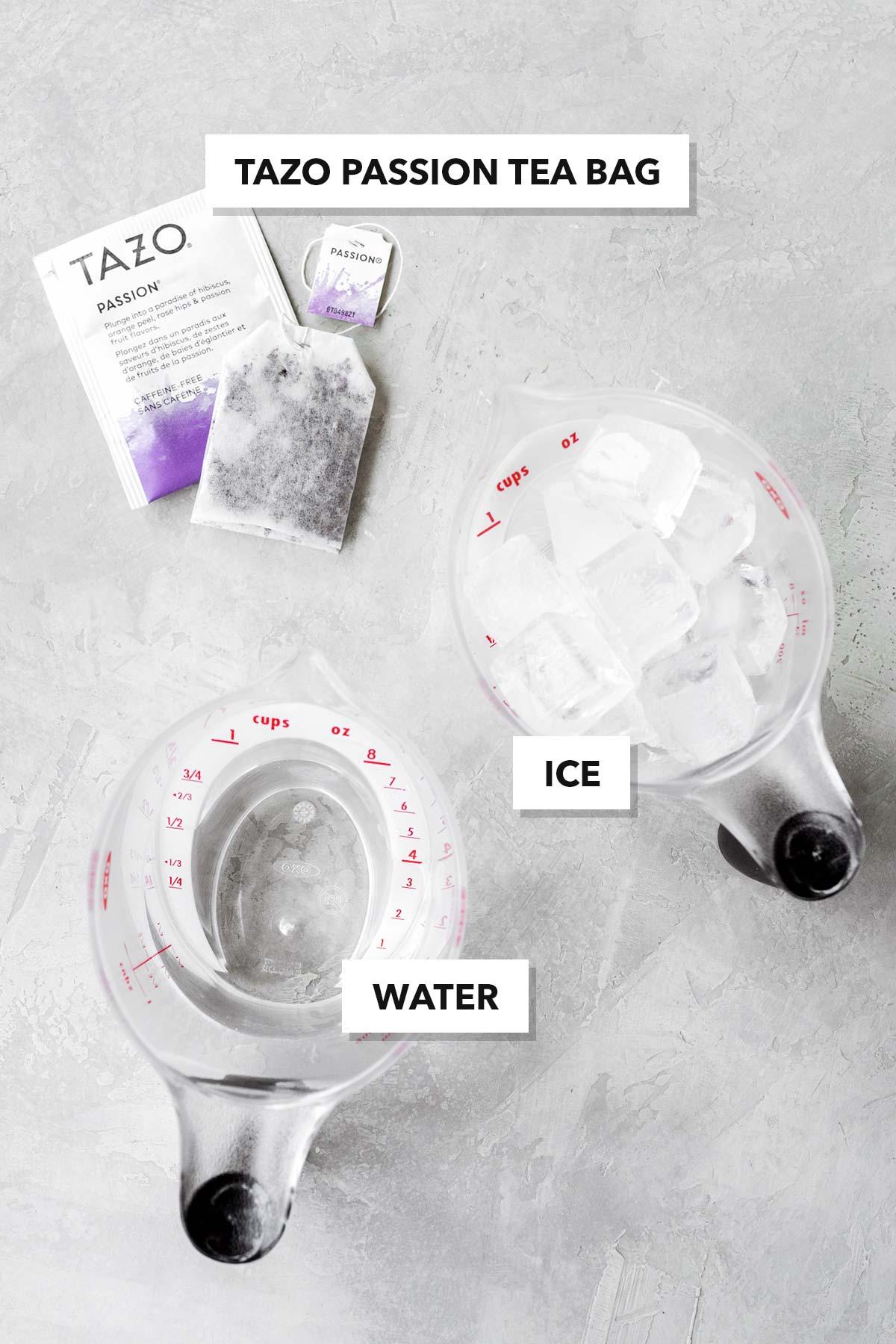 Iced Passion Tango Tea copycat recipe ingredients.