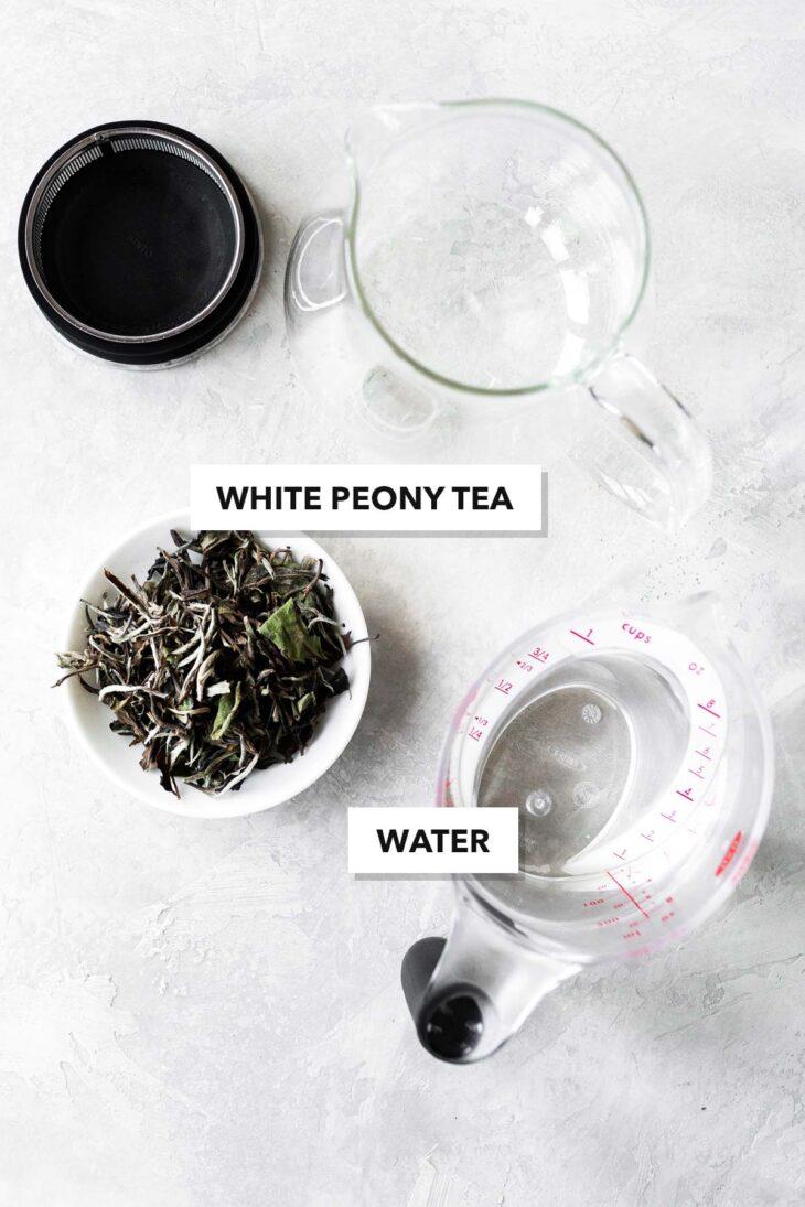 White Peony tea ingredients.