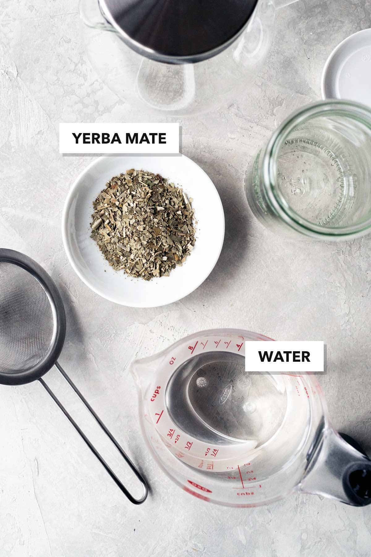 Yerba mate tea ingredients.